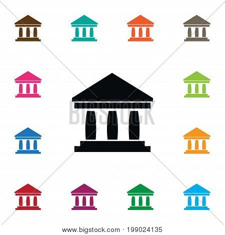 Museum Vector Element Can Be Used For Museum, Ancient, Bank Design Concept.  Isolated Ancient Icon.