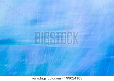 Blue Blurred Abstract Background With A Predominance Of Lines