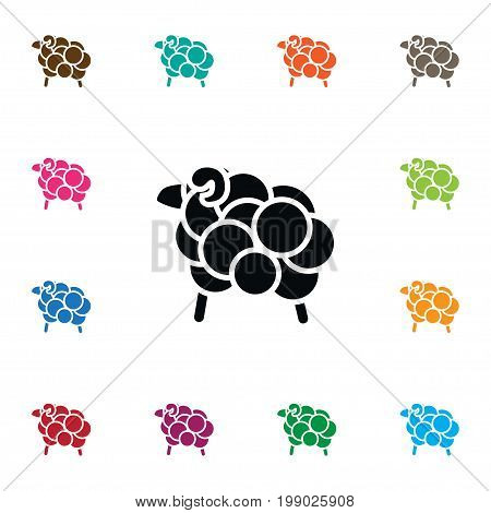 Goat Vector Element Can Be Used For Goat, Calf, Sheep Design Concept.  Isolated Calf Icon.