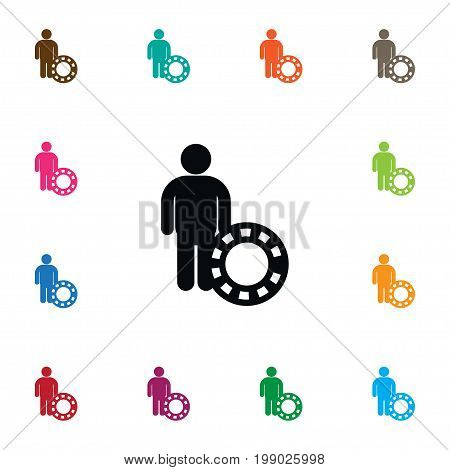 Investor Vector Element Can Be Used For Person, Investor, Croupier Design Concept.  Isolated Person Icon.