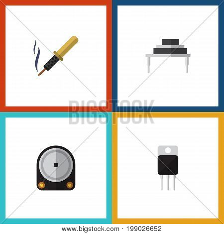 Flat Icon Electronics Set Of Destination, Repair, Receiver And Other Vector Objects