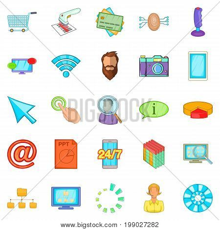 IT support icons set. Cartoon set of 25 it support vector icons for web isolated on white background