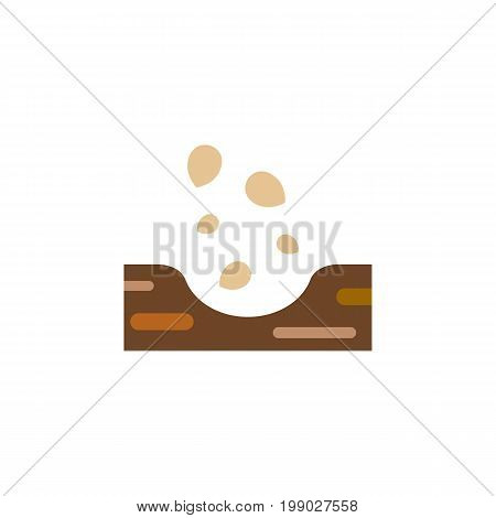 Seed Vector Element Can Be Used For Seed, Soil, Sow Design Concept.  Isolated Soil Flat Icon.