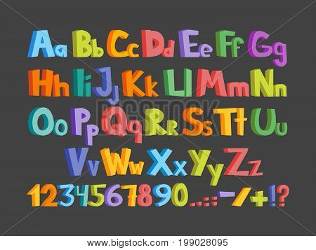 The Colorful Alphabet Illustration