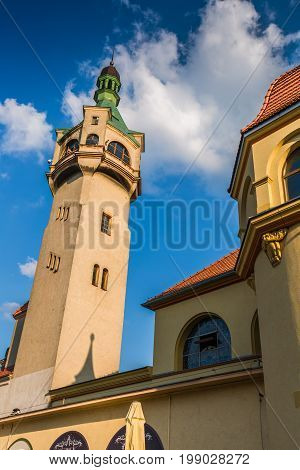Old lighthouse in Sopot Poland Europe .