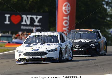 August 06, 2017 - Watkins Glen, New York, USA: Brad Keselowski (2)  brings his car through the turn during the I LOVE NY 355 at Watkins Glen International in Watkins Glen, New York.