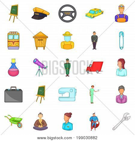 Maintain icons set. Cartoon set of 25 maintain vector icons for web isolated on white background poster