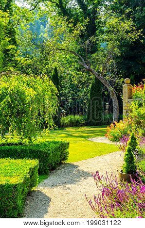 Green Park, Freshly Cut Vegetation, Well Maintained Park, Walking Path, Relax In The Garden