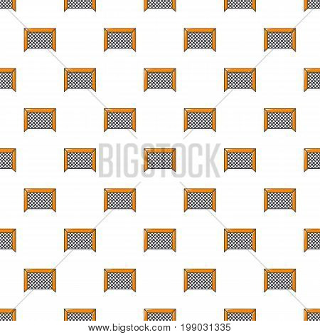 Hockey gate pattern in cartoon style. Seamless pattern vector illustration