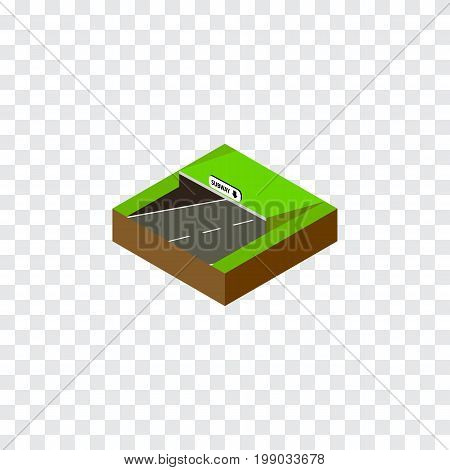 Subway Vector Element Can Be Used For Subway, Underground, Road Design Concept.  Isolated Underground Isometric.