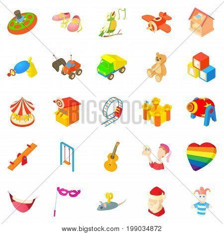 Sunshine icons set. Cartoon set of 25 sunshine vector icons for web isolated on white background