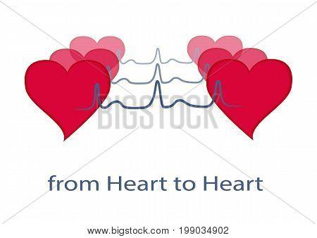 Heart. From heart to heat. Heart transcript. Vector Illustration EPS10