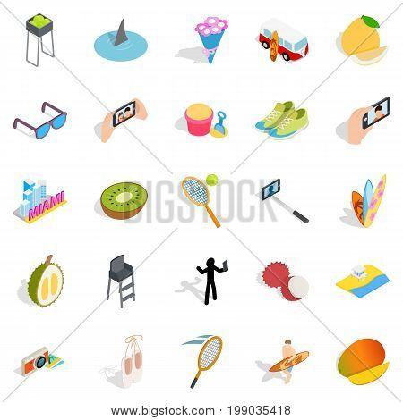 Joy icons set. Isometric set of 25 joy vector icons for web isolated on white background