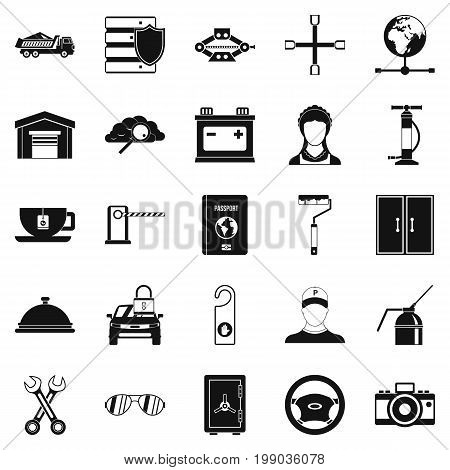 Adjustable wrench icons set. Simple set of 25 adjustable wrench vector icons for web isolated on white background