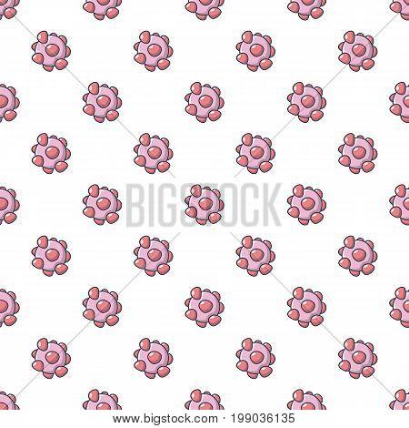 Cell virus pattern in cartoon style. Seamless pattern vector illustration