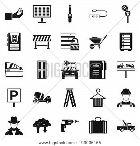 Wrench icons set. Simple set of 25 wrench vector icons for web isolated on white background