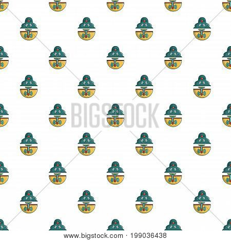 Anti rodents device pattern in cartoon style. Seamless pattern vector illustration
