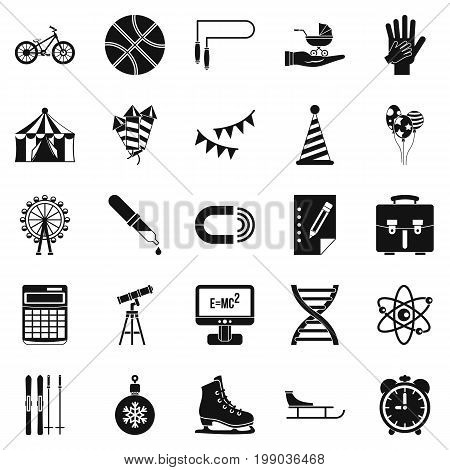Learner icons set. Simple set of 25 learner vector icons for web isolated on white background