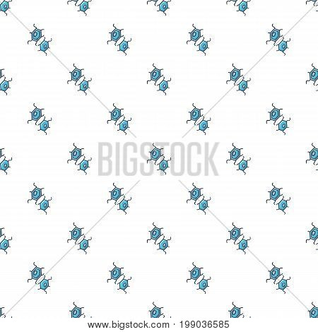 Bacterial cell pattern in cartoon style. Seamless pattern vector illustration