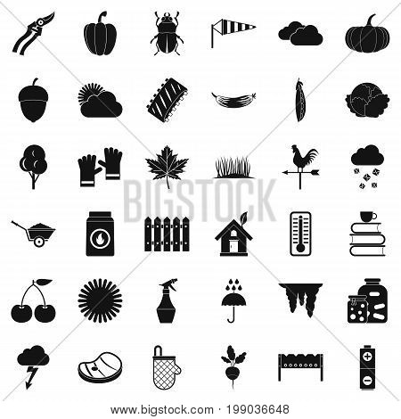 Healthy vegetable icons set. Simple style of 36 healthy vegetable vector icons for web isolated on white background