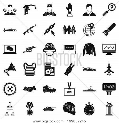 Victory in sport icons set. Simple style of 36 victory in sport vector icons for web isolated on white background