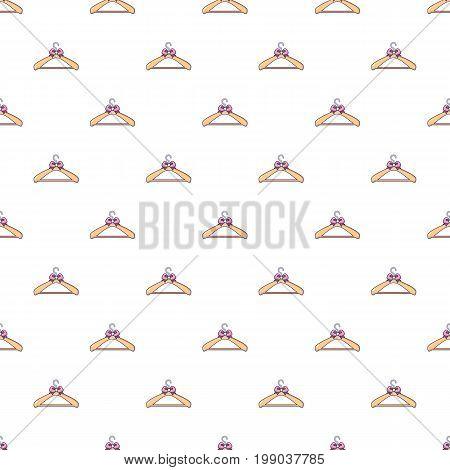 Coat hanger pattern in cartoon style. Seamless pattern vector illustration