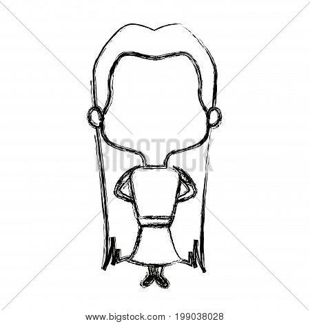 adorable bride lovely marriage cartoon vector illustration