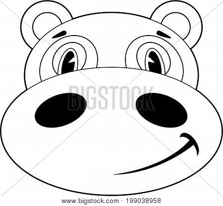 Hippo Head Outline.eps