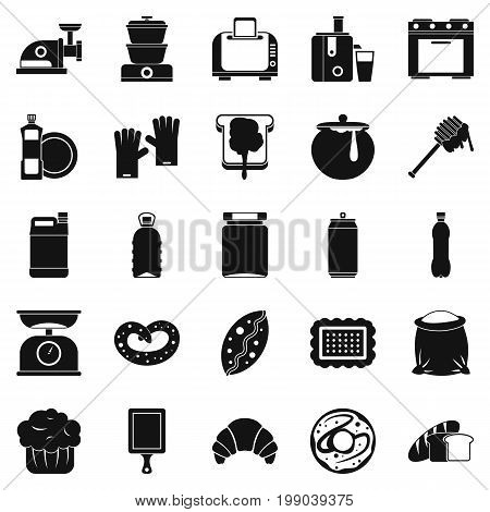 Cooking icons set. Simple set of 25 cooking vector icons for web isolated on white background