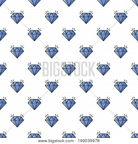 Crystal pattern in cartoon style. Seamless pattern vector illustration
