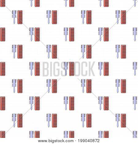 Comb brush pattern in cartoon style. Seamless pattern vector illustration
