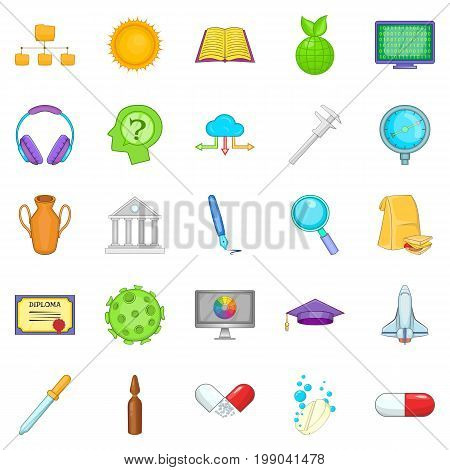 Cognition icons set. Cartoon set of 25 cognition vector icons for web isolated on white background