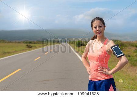 Professional Female Jogger Wearing Sports Clothing