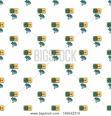 Mice trap pattern in cartoon style. Seamless pattern vector illustration