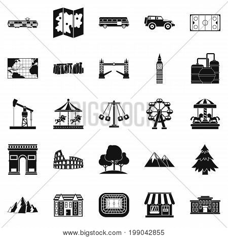 Community icons set. Simple set of 25 community vector icons for web isolated on white background