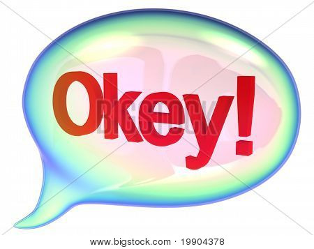 Speech bubble with