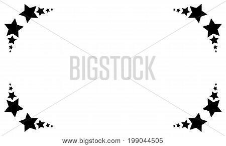 Collection stock black star on white backgroud vector illustration