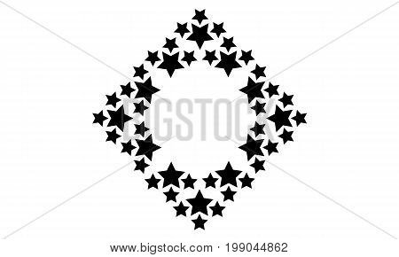 Star background design collection stock vector illustration
