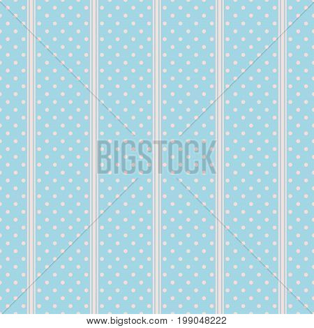 Polka dot seamless background. Abstract geometric vector pattern.