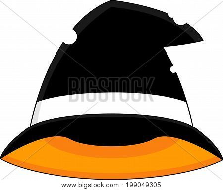 Cartoon Spooky Halloween Witches Hat Vector Illustration