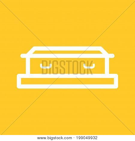 Coffin, wood, funeral icon vector image.Can also be used for funeral. Suitable for mobile apps, web apps and print media.