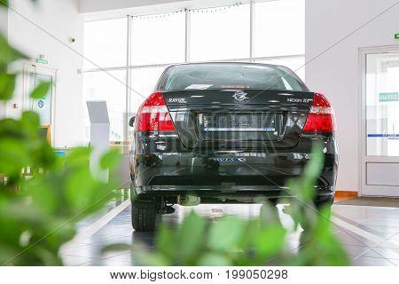 Showroom And Car Of Dealership Ravon In Kirov City In 2017