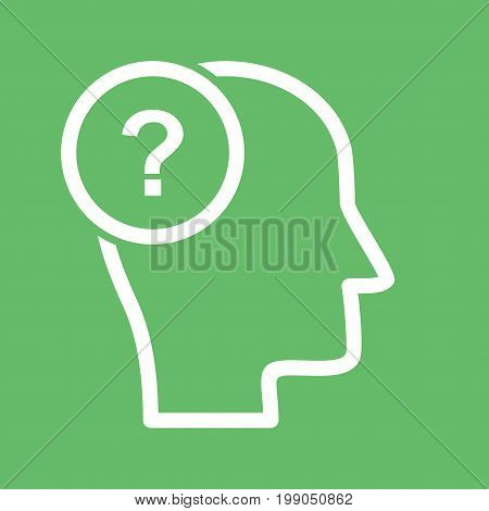 Question, quiz, mark icon vector image. Can also be used for soft skills. Suitable for mobile apps, web apps and print media.