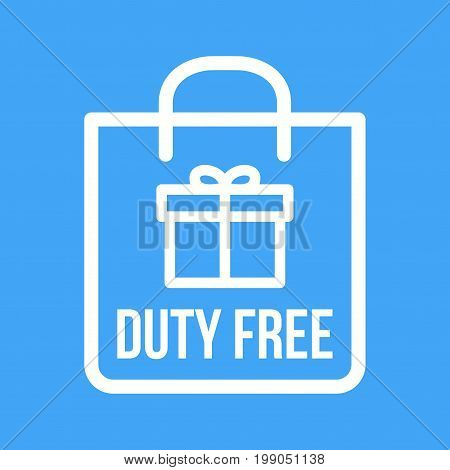 Free, duty, airport icon vector image. Can also be used for airport. Suitable for mobile apps, web apps and print media.