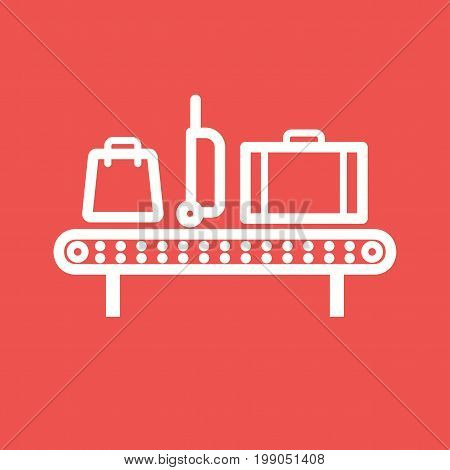 Luggage, belt, suitcase icon vector image. Can also be used for airport. Suitable for web apps, mobile apps and print media.
