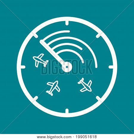 Radar, screen, airport icon vector image. Can also be used for airport. Suitable for use on web apps, mobile apps and print media.