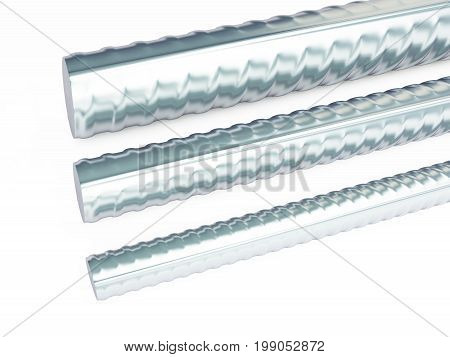 reinforcing steel. 3d Illustrations on a white background 3D rendering