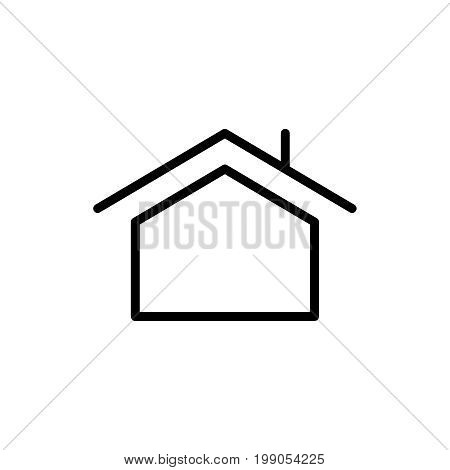 Premium home icon or logo in line style. High quality sign and symbol on a white background. Vector outline pictogram for infographic, web design and app development.