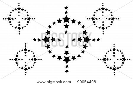 Background black star vector art collection stock