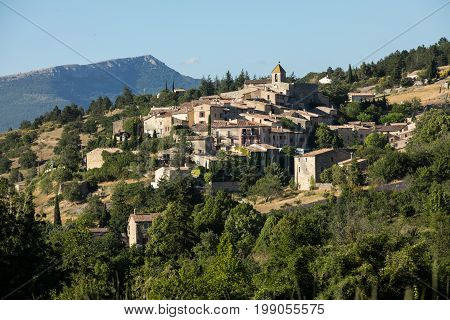 the village of Aurel in Vaucluse Provence France
